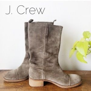 J. Crew Suede Boot, Grey/Taupe